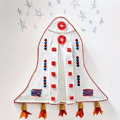 DIY Rocket Ship Birthday Cake for Kids Birthday Party