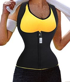 b06b2c2284b96 Gotoly Slimming Neoprene Vest Hot Sweat Shirt Body Shapers for Smooth  Muffin Top L Black  gt
