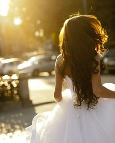 Brides. wear your hair down. it looks so much more natural and you! show off what you got! ;)