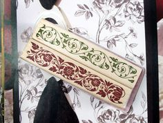 Lace Stamp Set -- Wooden Rubber Stamps -- Diary Stamps -- Deco Stamps -- 2 Styles in
