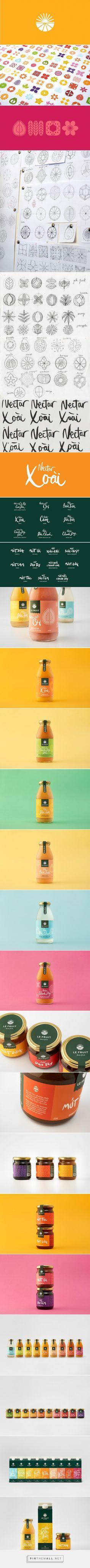 Le Fruit packaging design by Rice-Creative (Vietnam) - http://www.packagingoftheworld.com/2016/06/le-fruit.html