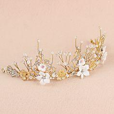 新娘頭飾巴洛克金色樹葉大皇冠飾品歐美複古奢華風結婚婚紗配飾品-淘寶台灣,萬能的淘寶