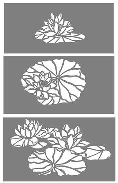Waterlilies Stencil Flower Stencils Waterlily Lotus Flowers