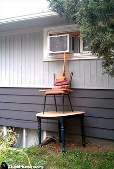 Hillbilly pissing porch