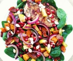 Autumn Spinach Salad w/ Warm Bacon Vinaigrette Recipe | Paleo inspired, real food
