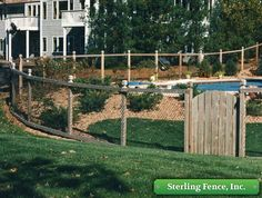 California chain link fences has many uses and Sterling Fencing can build them custom to your needs. Fence Landscaping, Pool Fence, Backyard Fences, Garden Fencing, Fenced In Yard, Garden Enclosure Ideas, Chain Link Fence Cover, Garden Yard Ideas, Fence Ideas