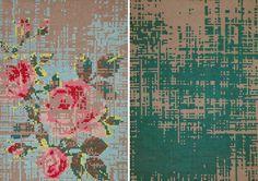 pixel pattern rugs
