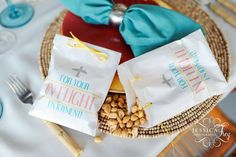"""Love is an Adventure"" peanut filled glassine bags created by Matinae Design Studio for Jessica Frey's Wedding Workshop ww.matinaedesignstudio.com"