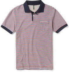 INCOTEX Striped Cotton Polo Shirt $375.00 USD