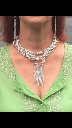 Another way to wear scarf necklace