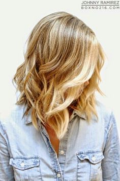 blonde medium curly bob