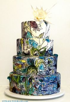 stained glass cake by vanessa.briggs.9085