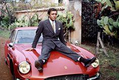 Peter Sellers and his Ferrari 500 Superfast.