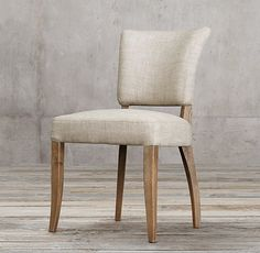 """RH has a """"perennials"""" fabric that is good for stain resistance Adèle Fabric Side Chair"""