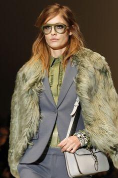 Gucci Fall 2014- fur coat