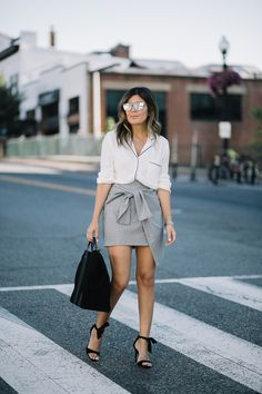 Style MBA wearing Clare V collection at Nordstrom #ClareVxNordstrom
