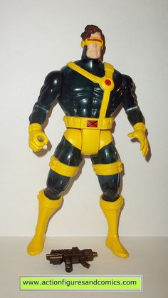 Toy Biz action figures for sale to buy MARVEL UNIVERSE 10 inch deluxe collectors edition series 10 inch CYCLOPS X-men / X-force (Semi-Translucent version) 100% COMPLETE Condition: Overall excellent di