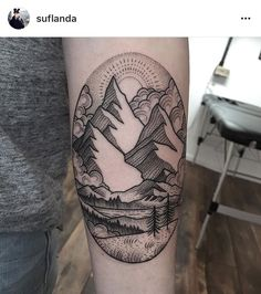 Image result for beach and mountain tattoo