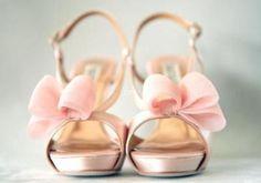 pink bow heels