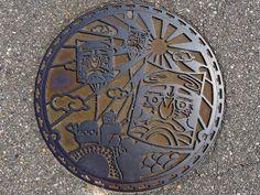 Daimon Toyama, manhole cover (富山県大門町のマンホール)   Flickr - Photo Sharing!