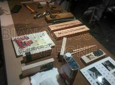 Il tavolo del maestro con gli attrezzi che abbiamo usato durante il workshop da #Miyabi #torino #giappone