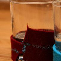 Kleenes Notizbuch: Trinkglashüllen Red Wine, Alcoholic Drinks, Glass, Food, January, Notebook, Felting, Drinking, Drinkware