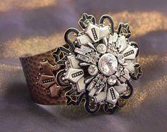 Art Deco Bracelet, Cuff Bracelet, Geometric Bracelet, Wedding Bracelet, Silver Star, Boho Bracelet, Vintage Bracelet, Cuff BR130