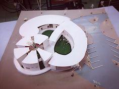 ศูนย์พัฒนาเด็กเล็ก Concept Models Architecture, Architecture Model Making, Architecture Concept Diagram, Architecture Sketchbook, Architecture Student, Architecture Plan, Amazing Architecture, Circular Buildings, Unique Buildings