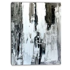 "DesignArt Painting Abstract Graphic Art on Wrapped Canvas Size: 40"" H x 30"" W"