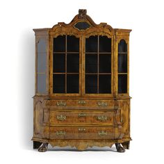 A Dutch walnut and burr walnut display cabinet<br>in Rococostyle, 19th century | lot | Sotheby's