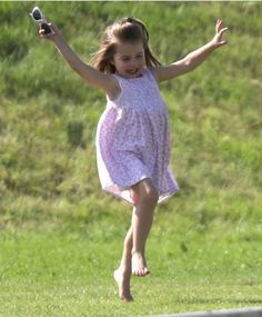 The long hot British summer saw Princess Charlotte frolicking bare foot on the grass as she watched her dad, the Duke of Cambridge, take part in the Maserati Royal Charity Polo Trophy at the Beaufort Polo Club in Tetbury