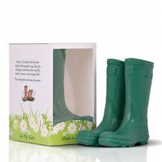Scottish Fine Soaps The Novelty Collection Wellington Boot Soaps Green