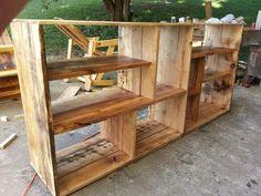 Reclaimed oak wood shelf.