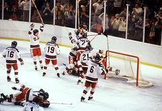 """The Americans Defeat The Soviet Union In """"Miracle On Ice"""" - The Soviet hockey had won the gold medal in every Olympics since 1964 and had regularly destroyed NHL teams in exhibition. The 1980 US hockey team was not an NHL team. They were a collection of college players and no-names, who should have had been crushed by the vastly superior Soviets. But that's not what happened. The US Team gutted out a victory and Al Michael's bellowed """"Do you believe in miracles?!"""" as time expired."""