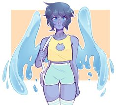 lapis looks rly good in shorts and croptops