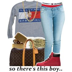 Untitled #673 by lulu-foreva on Polyvore featuring polyvore, fashion, style, Tommy Hilfiger, Dr. Denim, Louis Vuitton, Lauren Ralph Lauren, In God We Trust, Timberland and xO Design