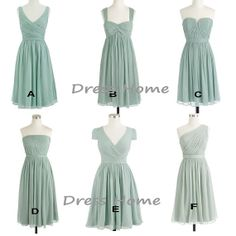 Bridesmaid Dress  Blue Bridesmad Dress / Short by DressHome, $99.00