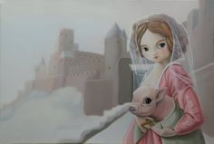 Dame Carcas by Valéry Vecu Quitard Carcassonne, Grenade, Bullet Journal, Anime, Google, Art, Pink Color, Drawing Drawing, Cities