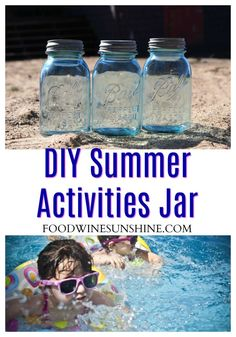 Looking to keep the kids happy and entertained this summer? Make one of these easy DIY Summer Activities Jar and have the kids pick their own summer fun activities! Fun Crafts To Do, Easy Diy Crafts, Diy Crafts For Kids, Vegan Recipes Easy, Wine Recipes, Summer Boredom, Fun Summer Activities, Frugal Family, Family Adventure