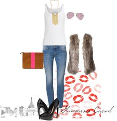 """""""Glamourous Casual..."""" by juliejacob ❤ liked on Polyvore"""