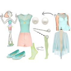 """""""Pearl, Steven Universe"""" by katewithpaint on Polyvore"""