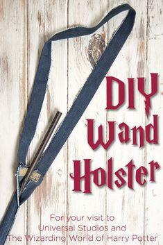 DIY Wand Holster Harry Potter Wand