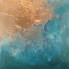 teal and gold abstract - Google Search