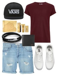"""""""🌐♣️"""" by mervecet ❤ liked on Polyvore featuring N'Damus, MANGO MAN, Topman, Vans, Paul Smith, Paco Rabanne, men's fashion and menswear"""
