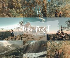 *Brand New* Blogger Lightroom Presets Collection - BP4U Guides Hiking Dogs, Hiking Gear, Hiking Backpack, Hiking Trails, Presets Lightroom, Hiking Essentials, Hiking Photography, Different Tones, Travel And Leisure
