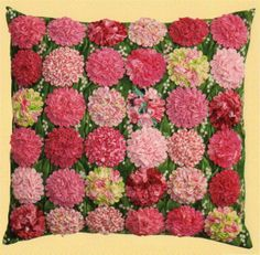 yo yo quilts | Pillow pattern contains complete instructions and is bundled with the ...