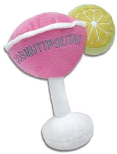 A Yappy Hour Favorite! Plush Exterior With A Squeaky Toy Inside.     Every Pampered Pet Should Have One!