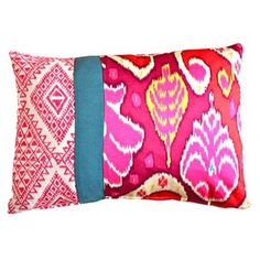 Check out this item at One Kings Lane! Sinta 14x20 Pillow, Red Multi