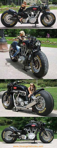 STRANGE HUGE MOTORCYCLE!