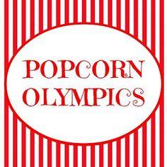 The Popcorn Olympics ~ Fun Activity for Kids! (she: Veronica) - Or so she says…: The Popcorn Olympics ~ Fun Activity for Kids! (she: Veronica) - Family Fun Night, Cute Family, Family Family, Family Reunions, Fun Activities For Kids, Family Activities, Indoor Activities, Winter Activities, Sensory Activities